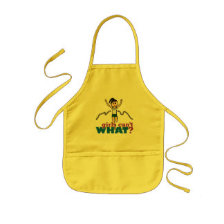 Girl Running in Green Kids' Apron