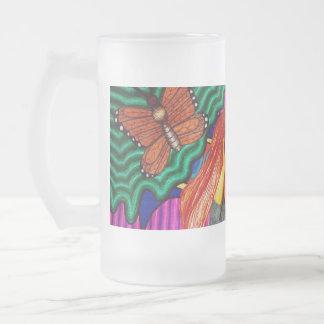 Girl Running In Psychedelic Garden Coffee Mug