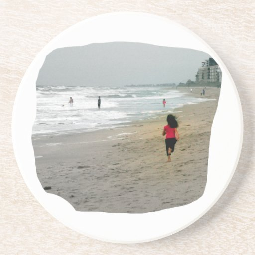 Girl Running On Florida Beach Coasters