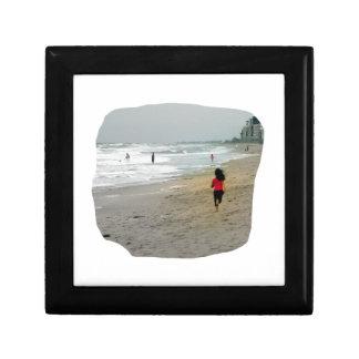Girl Running On Florida Beach Keepsake Box