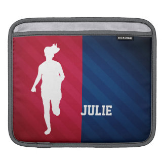 Girl Running; Red, White, and Blue iPad Sleeve
