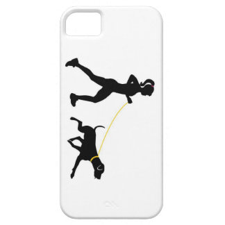 Girl running with her dog iPhone 5 case