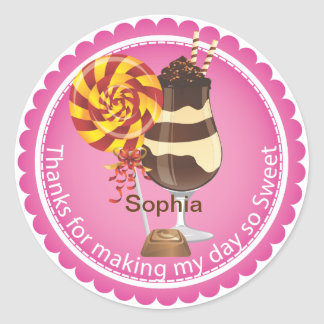 Girl s Candy Party Favor Birthday Sticker