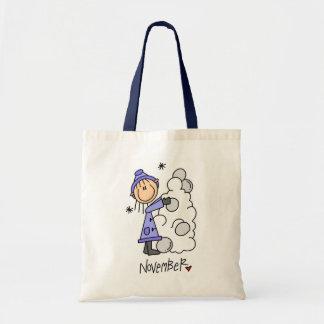Girl s November Birthday Tote Bags