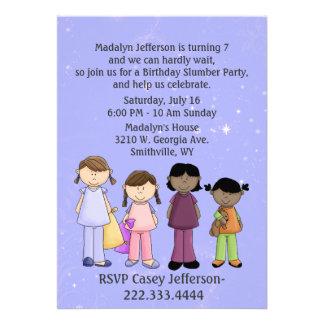 Girl s Slumber Party Birthday Invitation