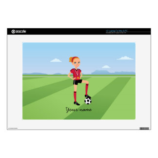 Girl s Soccer Laptop Skin Illustrated