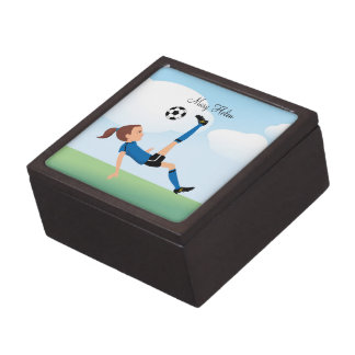 Girl s Soccer Medium GIft Box Premium Trinket Boxes