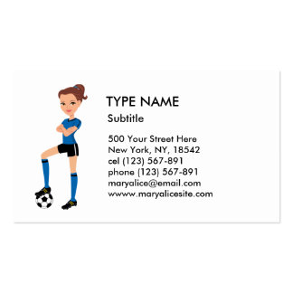 Girl s Soccer Player Calling Card P Business Cards
