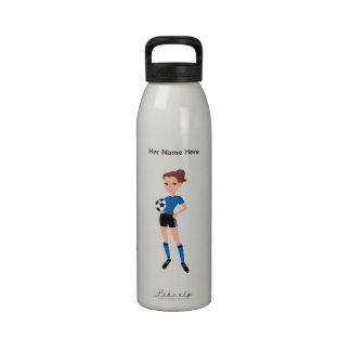 Girl s Soccer Rugged Water Bottle Illustrated