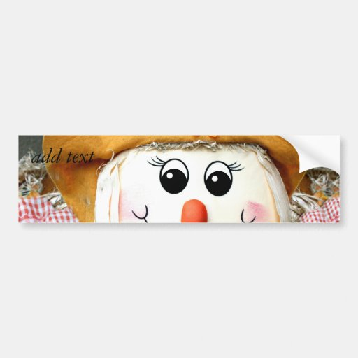 Girl Scarecrow Doll Bumper Stickers