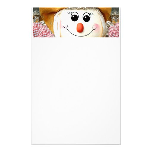 Girl Scarecrow Doll Stationery