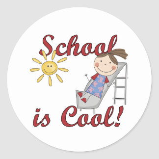 Girl School is Cool Tshirts and Gifts Classic Round Sticker