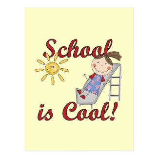 Girl School is Cool Tshirts and Gifts Postcards