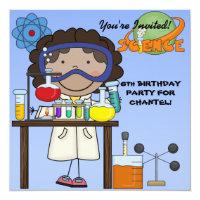 Science birthday invitations announcements zazzle girl science birthday party invitation filmwisefo