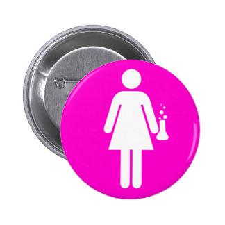 Girl Scientist Button