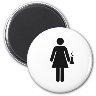 Girl Scientist Magnets