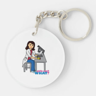 Girl Scientist - Medium Keychain