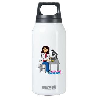 Girl Scientist - Medium Thermos Water Bottle