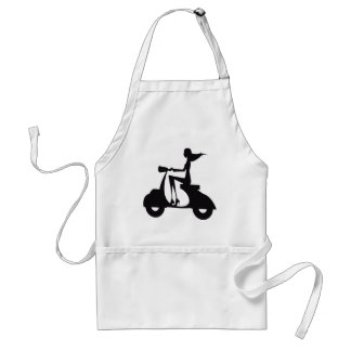 Girl Scooter black Adult Apron