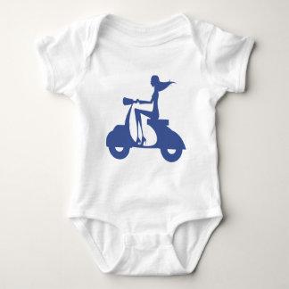 Girl Scooter blue Baby Bodysuit