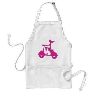 Girl Scooter hot pink Adult Apron