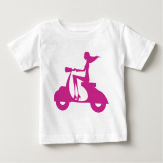 Girl Scooter hot pink Baby T-Shirt