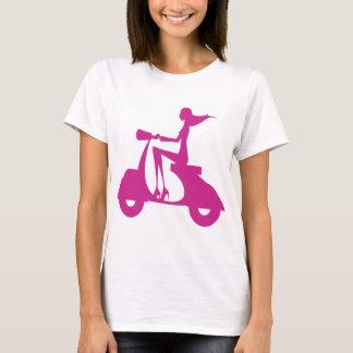 Girl Scooter hot pink T-Shirt