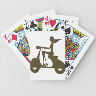 Girl Scooter od khaki Bicycle Playing Cards