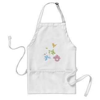 girl scooter pastel flowers adult apron