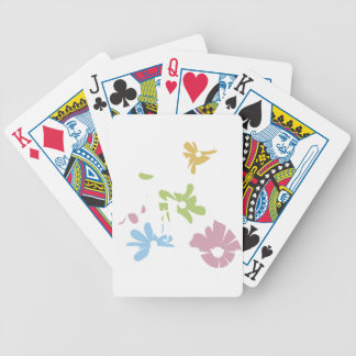 girl scooter pastel flowers bicycle playing cards