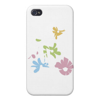 girl scooter pastel flowers iPhone 4 covers