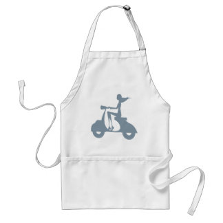 Girl Scooter periwinkle Adult Apron