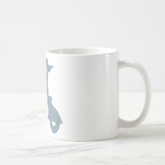 Girl Scooter periwinkle Classic White Coffee Mug