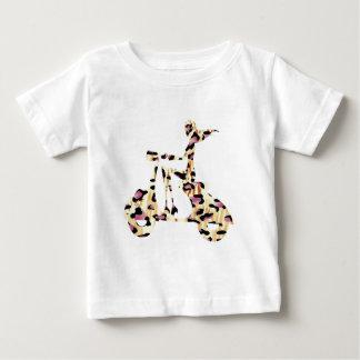 girl scooter pink cheetah baby T-Shirt