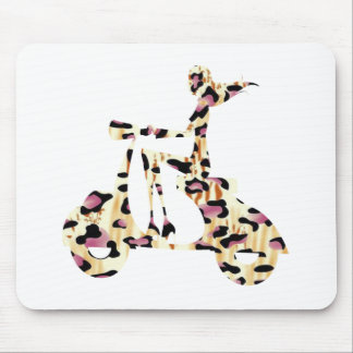 girl scooter pink cheetah mouse pad