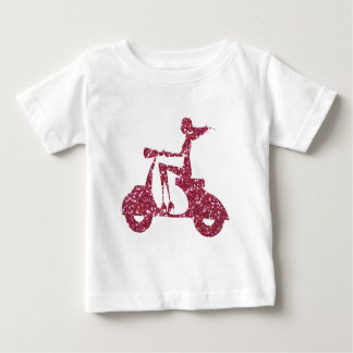 girl scooter pink glitter baby T-Shirt