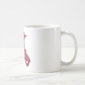 girl scooter pink glitter classic white coffee mug