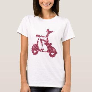 girl scooter pink glitter T-Shirt