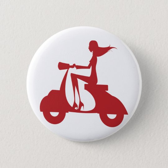 Girl Scooter red Button