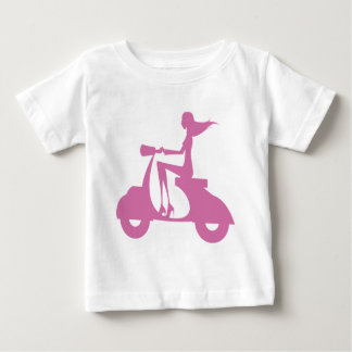Girl Scooter soft pink Baby T-Shirt