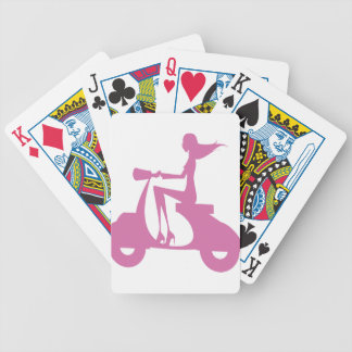 Girl Scooter soft pink Bicycle Playing Cards