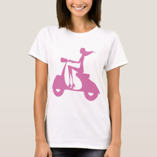 Girl Scooter soft pink T-Shirt