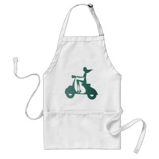 Girl Scooter teal gradient Adult Apron