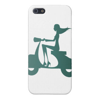 Girl Scooter teal gradient Case For iPhone SE/5/5s