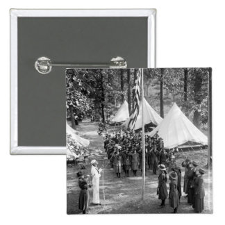 Girl Scout Flag-Raising: 1919 Pins