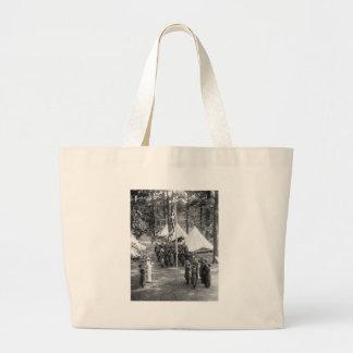 Girl Scout Flag-Raising: 1919 Jumbo Tote Bag