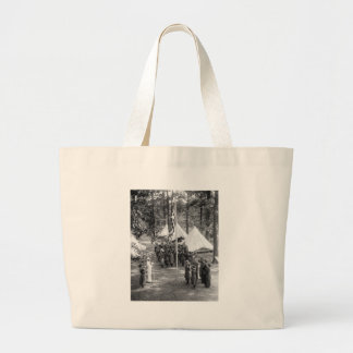 Girl Scout Flag-Raising: 1919 Large Tote Bag