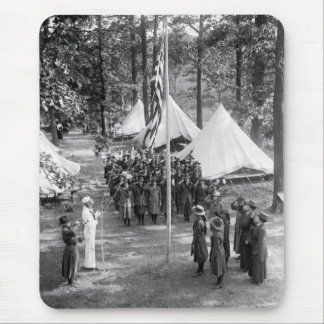 Girl Scout Flag-Raising: 1919 Mouse Pad