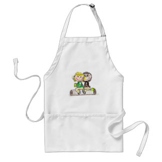 Girl Scout Junior Brownie Outdoors Adult Apron