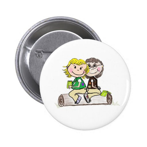 Girl Scout Junior Brownie Outdoors 2 Inch Round Button